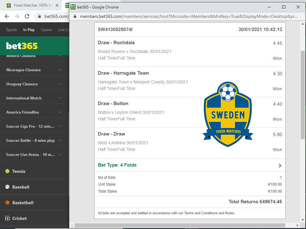 sweden fixed betting 100% safe